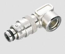 Raccordo push-in / gomito a 90° / pneumatico / in ottone nichelato