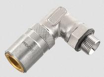 Raccordo ad avvitamento / gomito a 90° / idraulico / in cromo