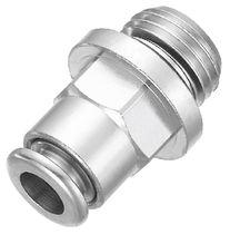 Raccordo push-in / dritto / pneumatico / in ottone nichelato
