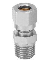 Raccordo ad avvitamento / dritto / pneumatico / idraulico