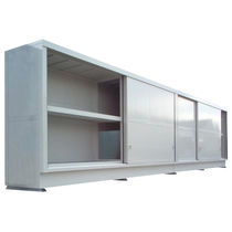Armadio di stoccaggio / a pavimento / a porte scorrevoli / in metallo