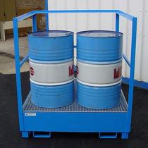 Vasca di raccolta 4 fusti / 2 fusti / 1 fusto / in acciaio