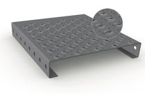 Grigliato in acciaio galvanizzato / alluminio / in lamiera / antiscivolo