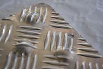 Tappeto antiscivolo / in alluminio / podotattile / con effetto diamante in rilievo
