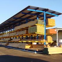 Scaffalatura magazzino di stoccaggio / cantilever / per carichi pesanti / per carichi lunghi