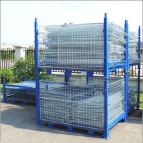 Cassa-pallet in metallo / in rete metallica / di stoccaggio / pieghevole