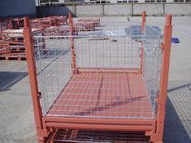 Cassa-pallet in acciaio / in rete metallica / per movimentazione / pieghevole