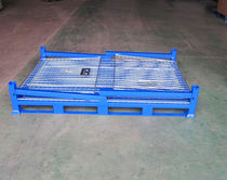 Cassa-pallet in acciaio / in rete metallica / di stoccaggio / pieghevole