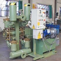 Pompa a pistone / per acque reflue / con motore idraulico / per trattamento delle acque reflue