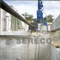 Raschiatore per trattamento di acque reflue / di fanghi