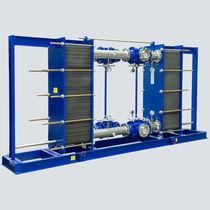 Scambiatore di calore a piastre e guarnizioni / liquido / liquido / su skid / ad uso industriale