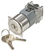 Commutatore a chiave / unipolare / in alluminio / elettromeccanico