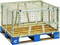 Cassa-pallet in acciaio / da trasporto / accatastabile / pieghevole