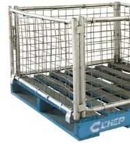 Cassa-pallet in metallo / in rete metallica / di stoccaggio