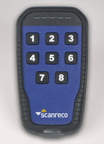 telecomando radio / a 8 pulsanti / compatto / IP65