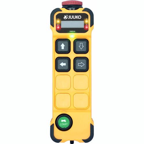telecomando radio / a 4 pulsanti / a pulsanti configurabili / con interruttore per arresto di emergenza