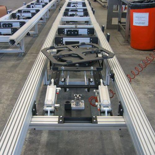 tavola girevole azionata a motore / orizzontale / inclinabile / per trasportatore