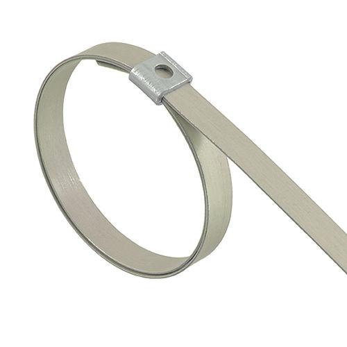 Fascetta stringitubo in acciaio inossidabile / con chiusura dentata DUAL-LOKT® BAND-IT