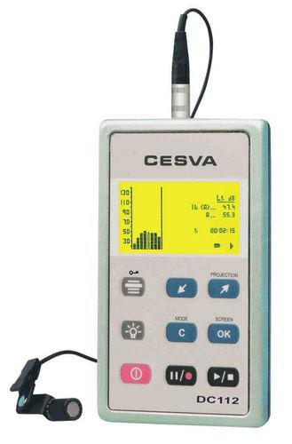 Dosimetro analizzatore di rumore / personale 2003/10/CE | DC112 CESVA