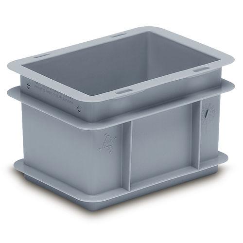 cassetta in plastica / di stoccaggio / da trasporto / impilabile