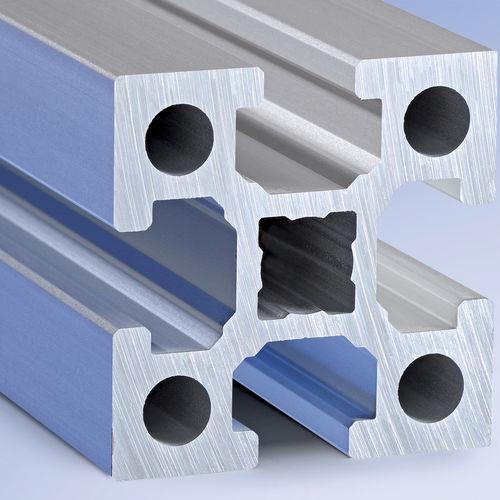 profilato in alluminio / con scanalature / di costruzione