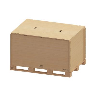 Cassa-pallet in legno / da trasporto / pieghevole / con coperchio Simplexclickbox® Gebhardt