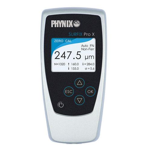 Misuratore di spessore di rivestimento / digitale / Bluetooth / con registratore di dati Surfix® Pro X PHYNIX