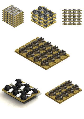 Imballaggio in polpa di legno / per settore automotive Eredi Caimi