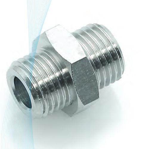 raccordo ad avvitamento / dritto / pneumatico / in ottone nichelato