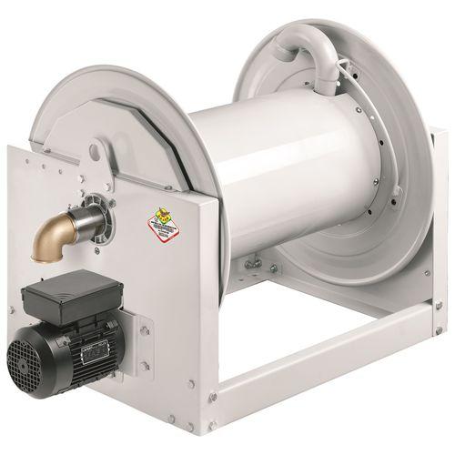 avvolgitore per tubo / a motore / fisso / aperto