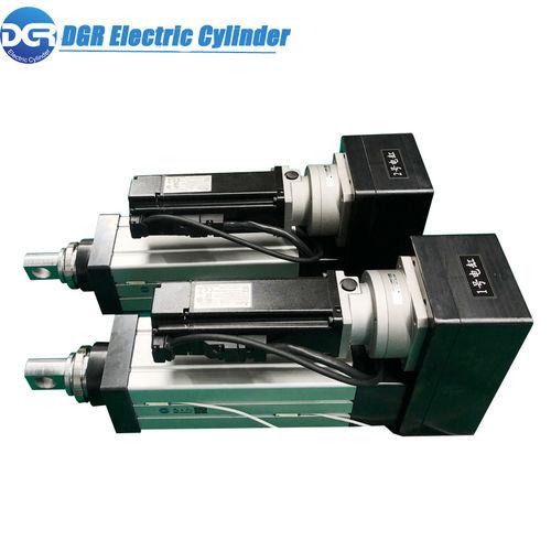 cilindro elettrico / a doppio effetto / con guida dell'asta del pistone / con gambo filettato