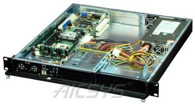 Telaio PC per rack / 1U / per backplane / per scheda madre mini-ITX RCK-104BA AICSYS Inc
