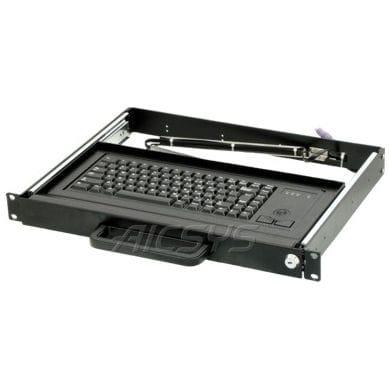tastiera montata su rack-cassetto / a tasti meccanici / 84 tasti / con trackball