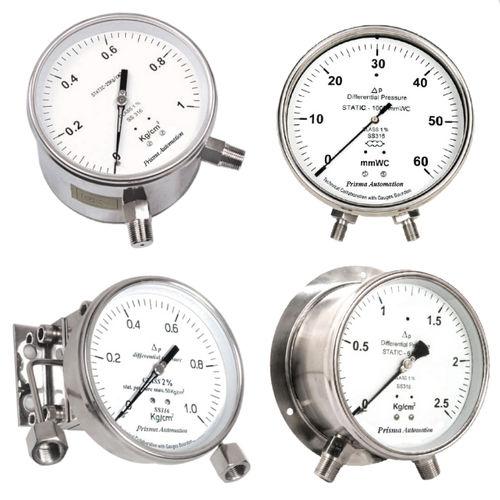manometro analogico / differenziale / di processo / in acciaio inossidabile