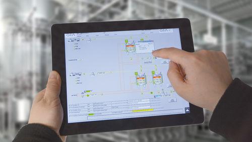 software di gestione / di supervisione / di acquisizione dati / per reportistica