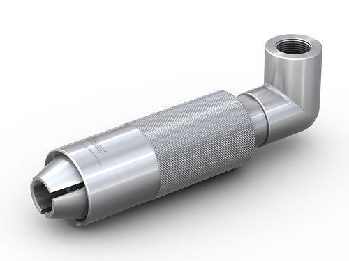 raccordo ad avvitamento / a gomito / pneumatico / in acciaio inox