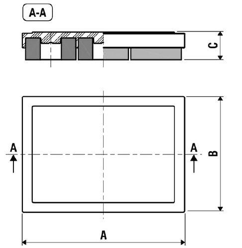 ammortizzatore di vibrazioni / a frizione / per carichi pesanti / per climatizzazione