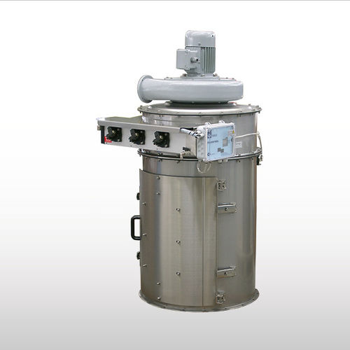 filtro ad aria / a tamburo / con flangia / cilindrico