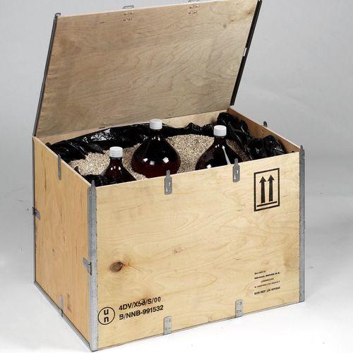 Cassa in compensato / da trasporto / per prodotti pericolosi / con omologazione ONU EXBOX DG series No-Nail Boxes