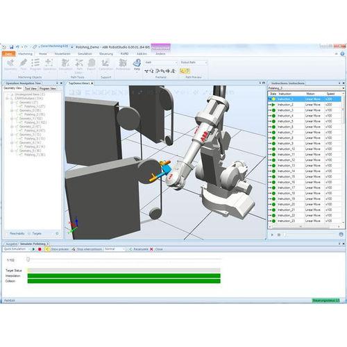 software CAD CAM / per lavorazione / per applicazioni robotiche / off-line
