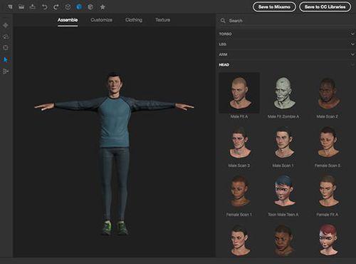 Software di progettazione / di creazione / di animazione / 3D Adobe Fuse CC (Beta) ADOBE