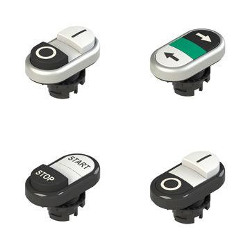 pulsante tattile / multipolare / doppio / per montaggio a filo