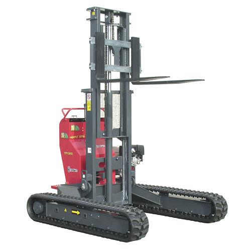 carrello elevatore elettroidraulico / con conducente in piedi / per pallet / cingolato