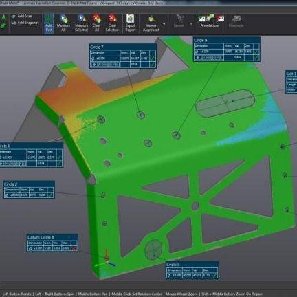 software di visualizzazione, analisi e reporting di misurazione dimensionale