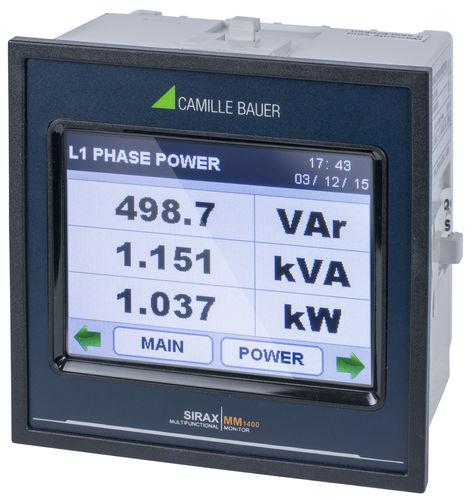 apparecchio di misura della potenza contatore di energia / multimetro / frequenzimetro / di potenza attiva