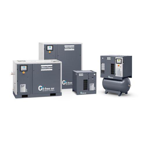compressore d'aria / fisso / con motore elettrico / scroll