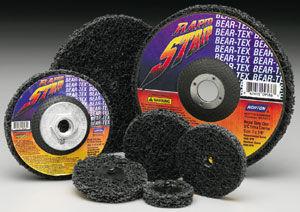 disco abrasivo in fibre sintetiche / per finitura / per metallo / non-tessuto