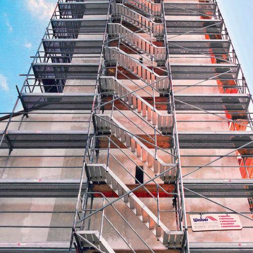 Ponteggio fisso / modulare / per facciata BOSTA® series  Hünnebeck GmbH
