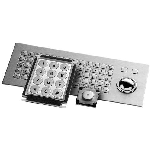 tastiera a tasti meccanici / con sistema di puntamento / in acciaio inox / IP65