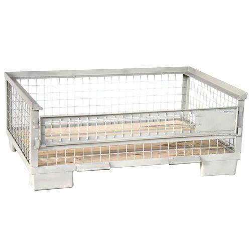 Cassa-pallet in rete metallica / di stoccaggio / leggera / per carichi pesanti KK Arcawa GmbH